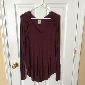 Free People Maroon Catalina Thermal Small